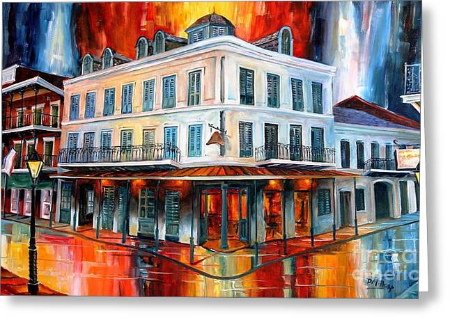 Evening At Napoleon House Greeting Card by Diane Millsap