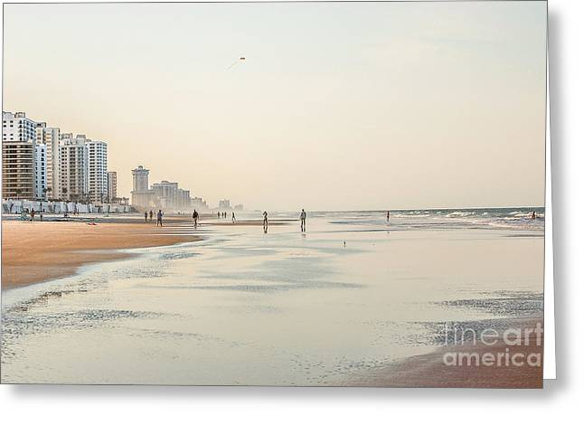 Evening At Panama City Greeting Card by Debbie Green