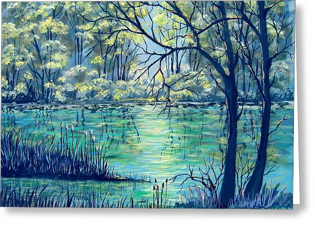 Evening At The Bayou Greeting Card