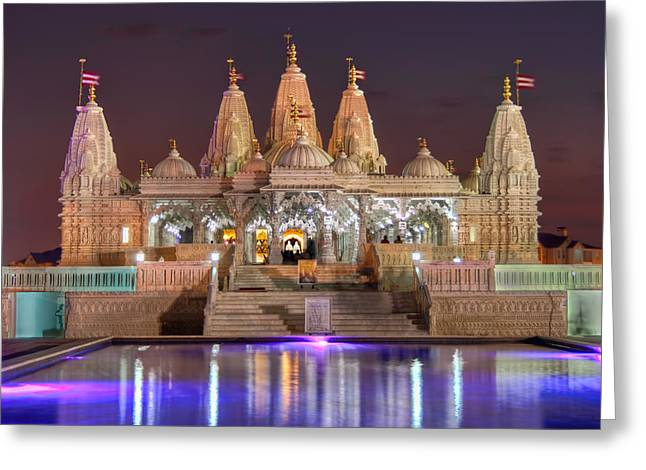 Evening At The Mandir Greeting Card by Tim Stanley
