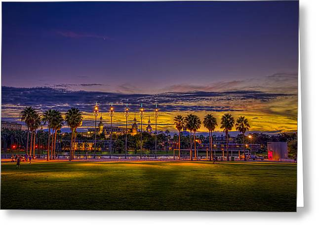 Evening At The Park Greeting Card by Marvin Spates