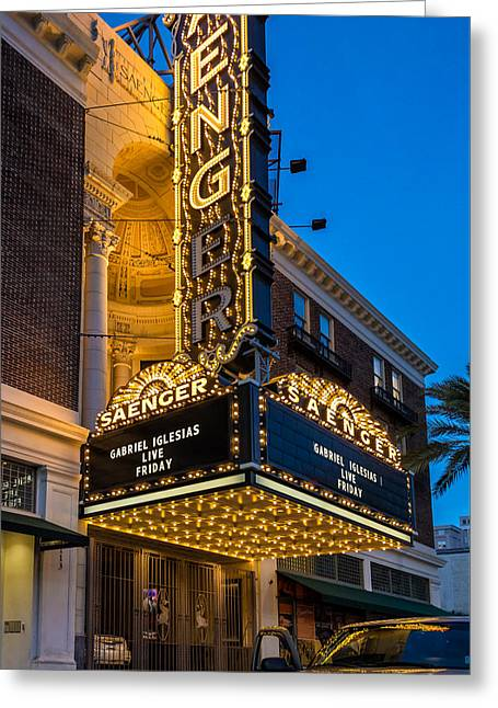 Evening At The Saenger Theatre Greeting Card
