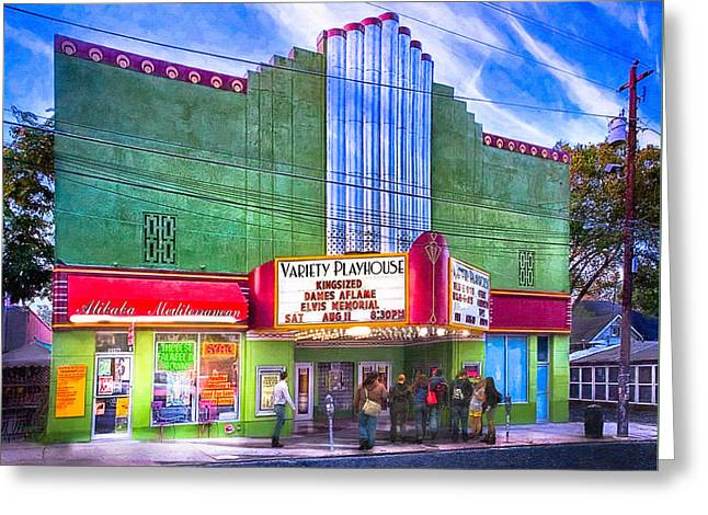 Evening At The Variety Playhouse - Atlanta Greeting Card by Mark E Tisdale