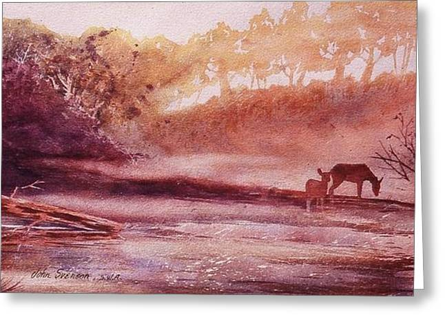 Evening By The Creek Greeting Card