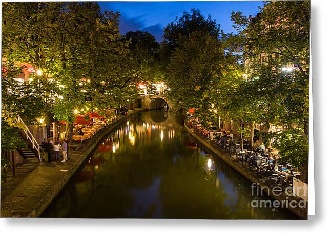Evening Canal Dinner Greeting Card