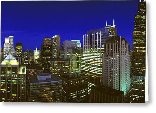 Evening Chicago Illinois Greeting Card