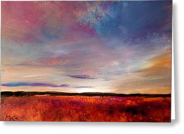 Evening Colours Greeting Card by K McCoy