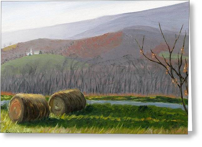 Evening Comes To Penns Valley Greeting Card