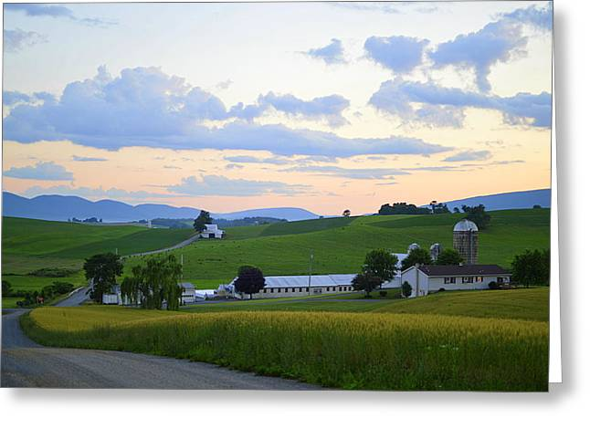 Evening Countryside #1 - Millmont Pa Greeting Card