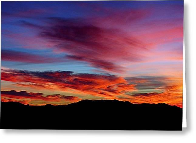 Greeting Card featuring the photograph Evening Desert Skies by Mistys DesertSerenity