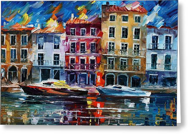 Evening Dream - Palette Knife Oil Painting On Canvas By Leonid Afremov Greeting Card