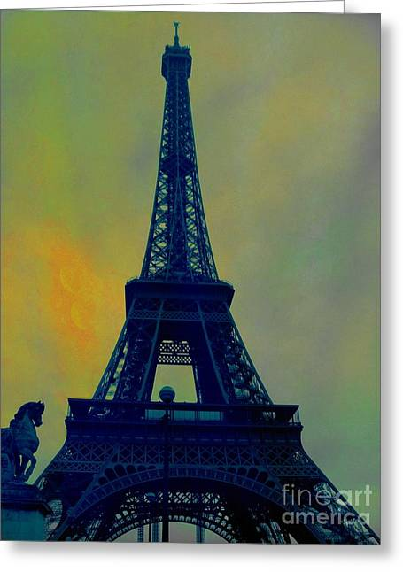 Evening Eiffel Tower Greeting Card