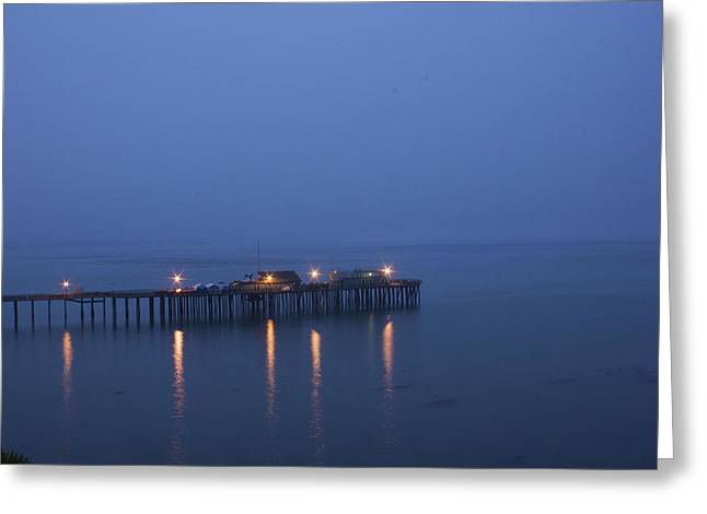 Evening Enters Capitola Greeting Card