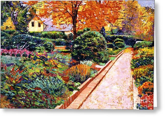 Evening Garden Stroll Greeting Card by David Lloyd Glover