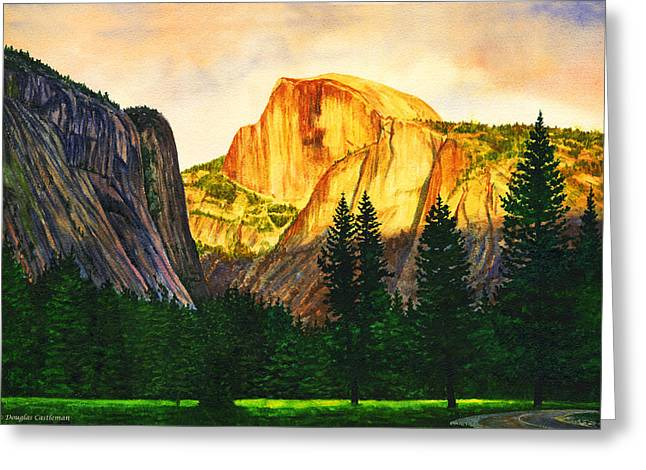 Evening Glow In Yosemite Greeting Card