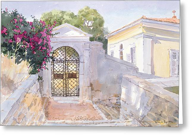 Evening Hroussa Greeting Card by Lucy Willis