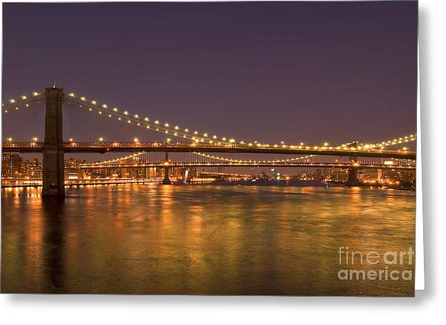Evening II New York City Usa Greeting Card by Sabine Jacobs