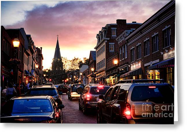 Evening In Annapolis Greeting Card by Olivier Le Queinec