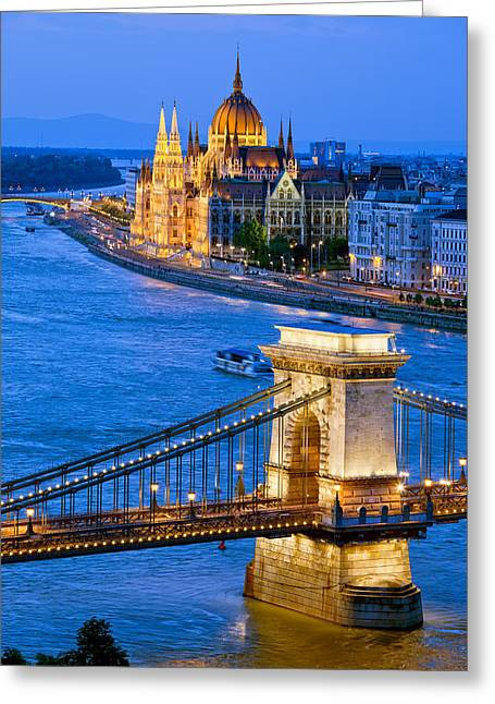 Evening In Budapest Greeting Card