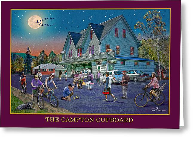 Evening In Campton Village Greeting Card by Nancy Griswold