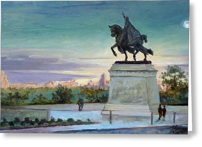 Evening In Forest Park Saint Louis Greeting Card