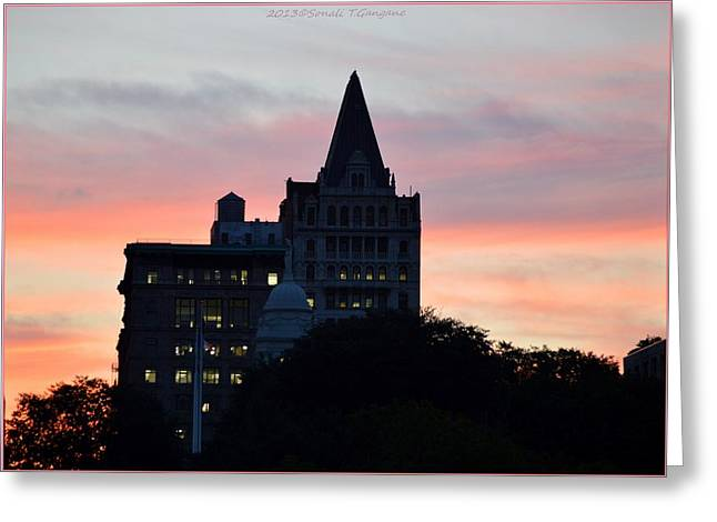 Evening In New York Greeting Card by Sonali Gangane