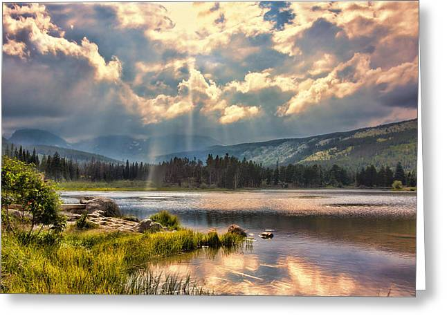Evening In The Rocky Mountain National Park Greeting Card