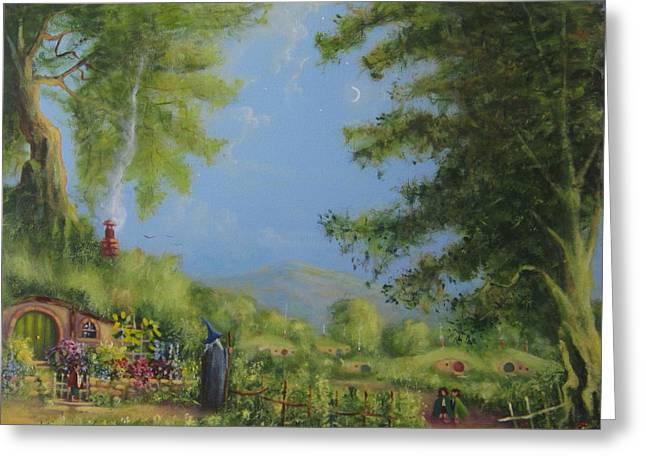 Evening In The Shire. Greeting Card by Joe  Gilronan
