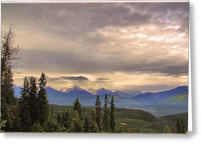 Evening In Yoho Greeting Card by Janet Ashworth