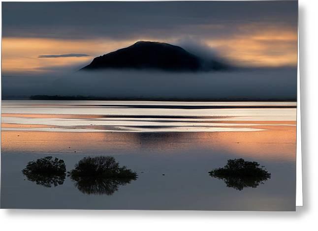 Evening Lake Greeting Card