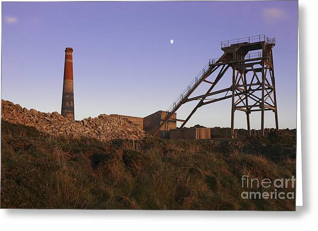 Evening Light At Botallack Greeting Card by Terri Waters