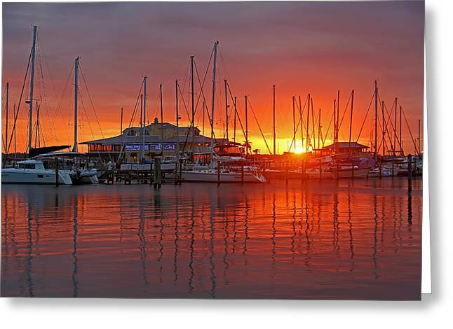 Evening Light Greeting Card by HH Photography of Florida