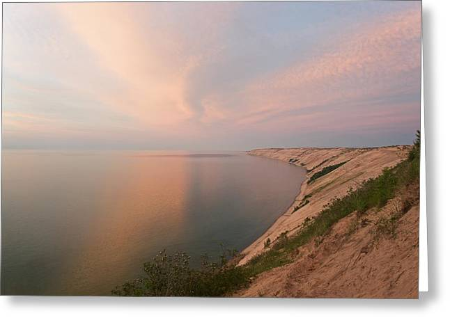 Evening Light On Grand Sable Banks Greeting Card