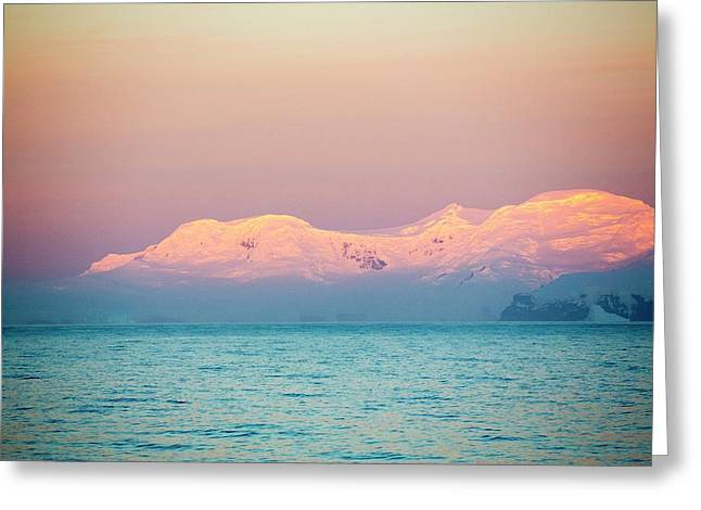 Evening Light Over Mountains Greeting Card
