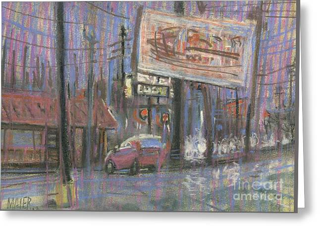 Evening Lights Greeting Card by Donald Maier