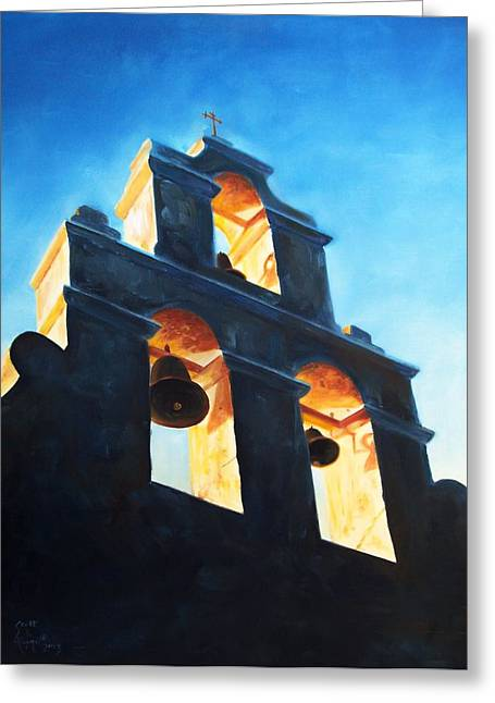 Evening Mission Greeting Card by Scott Alcorn