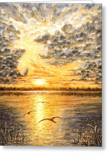 Evening Of The 5th Day Greeting Card