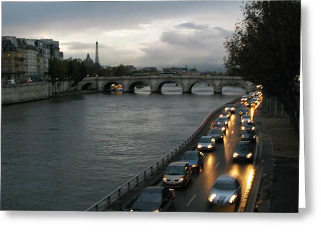 Evening On Pont Au Change  Greeting Card by Joe Schofield