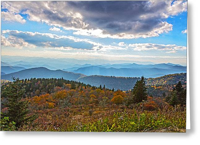 Evening On The Blue Ridge Parkway Greeting Card
