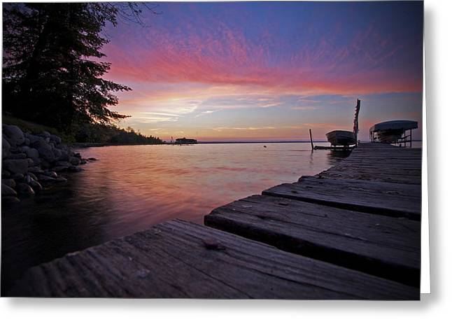 Evening On The Dock Greeting Card