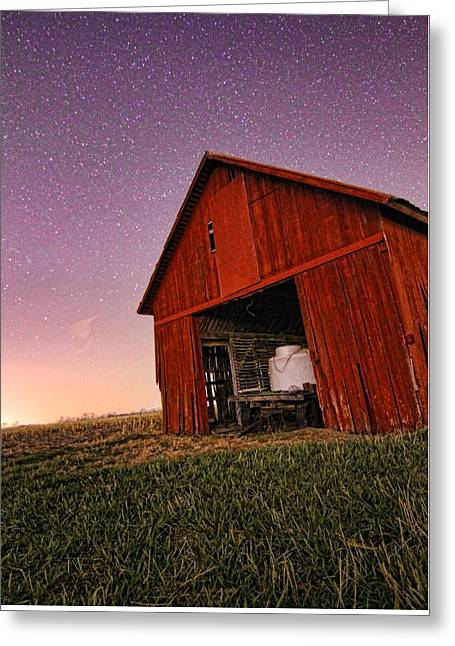 Evening On The Farm Greeting Card