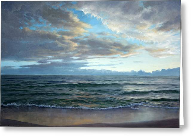 Evening On The Gulf Greeting Card