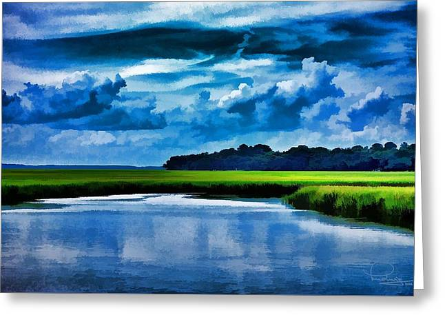 Evening On The Marsh Greeting Card