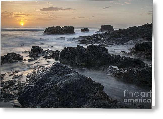 Evening On The Rocky Shore Greeting Card