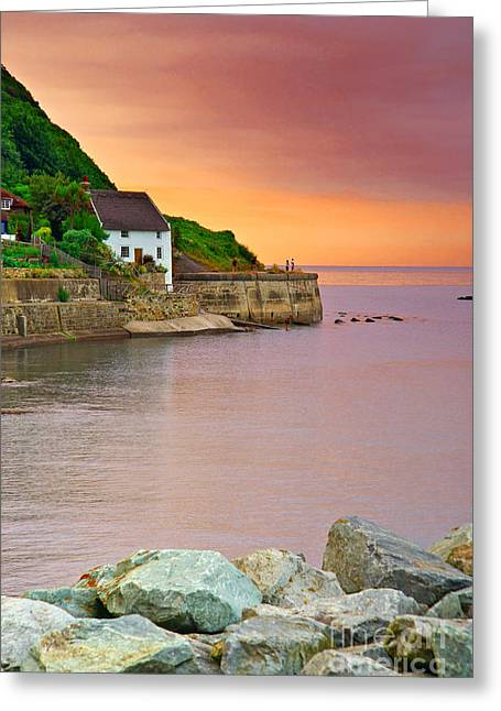 Evening Over Runswick Bay Greeting Card