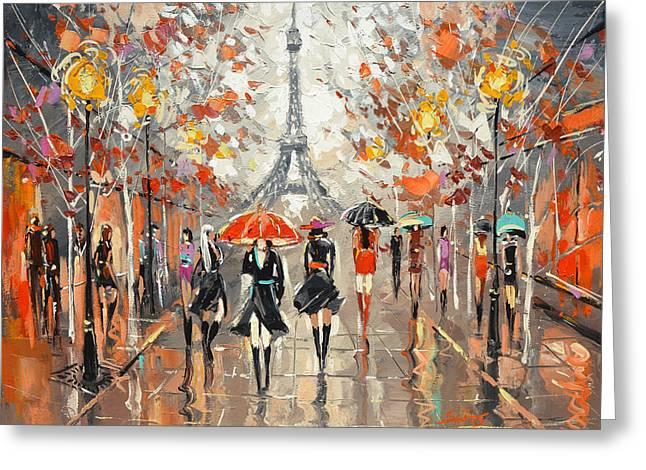 Evening. Paris Greeting Card