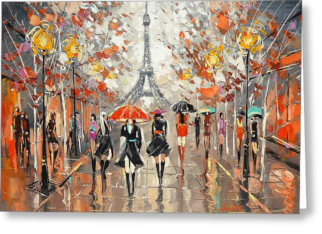 Evening. Paris Greeting Card by Dmitry Spiros