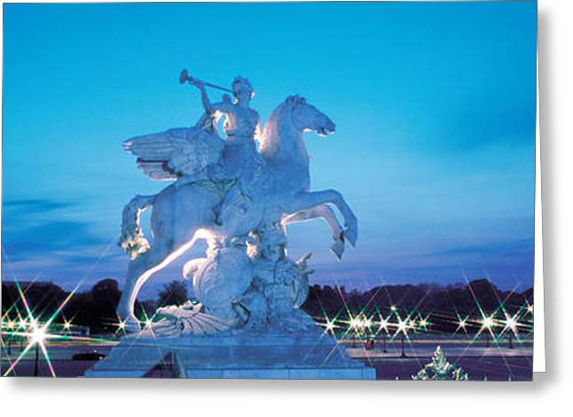 Evening Place De La Concorde Paris Greeting Card by Panoramic Images