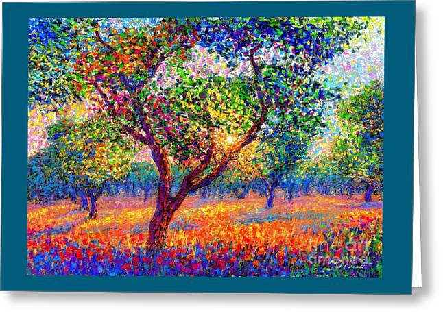 Evening Poppies Greeting Card