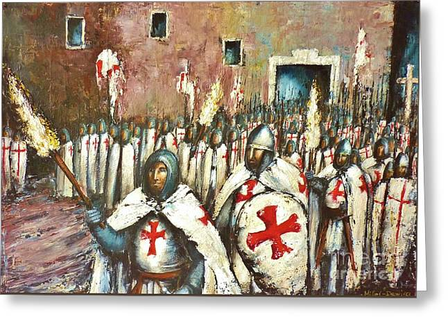 Templar Procession  Greeting Card